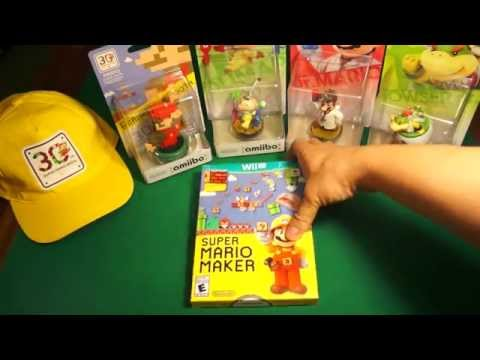 Unboxing Super Mario Maker Con Booklet + Amiibo (Wii U)