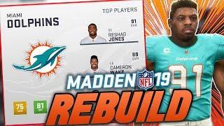 Miami Dolphins Rebuild | Madden 19 Franchise Rebuild | Top Prospect Skips Combine!