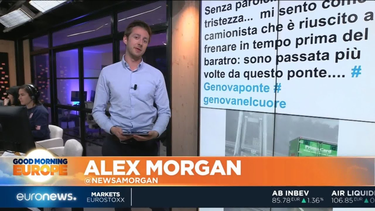 #TheCube | On social media, the initial shock has turned to anger over the Genoa bridge collapse