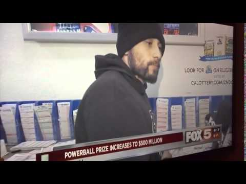 Las Vegas news reporter asking what this guy would buy if he won the power ball. This guy should win