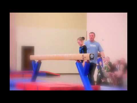 Smoky Mountain Vacation Classic 2010-- Sydney's last gymnastics competition in TN-- Level 8 Beam Video