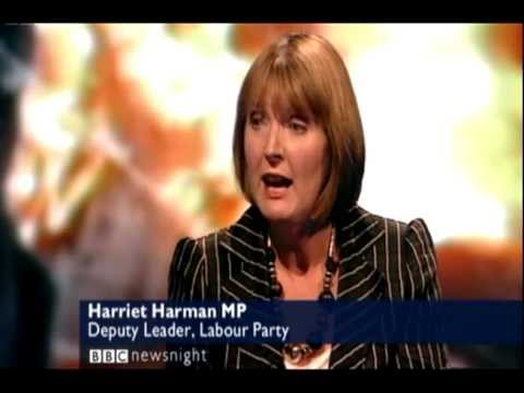Newsnight - Harriet Harman & Michael Gove - Heated Debate | London Riots 09/08/2011