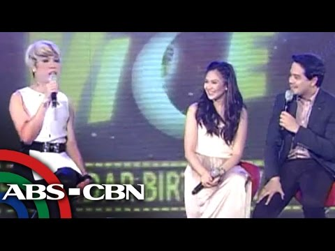 Vice Ganda pokes fun at Sarah, John Lloyd