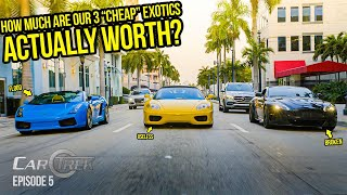 We Found Out How Much $$$ Our 3 Cheap Exotic Cars Were ACTUALLY Worth (BIG MISTAKE)