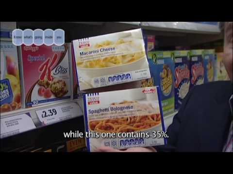 Food and Drink Federation advert aired in GP surgeries featuring dietitian Nigel Denby giving advice on how to use GDA labels to check, compare and choose be...