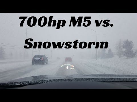 Can You Drive a 700hp BMW M5 in a Canadian Snowstorm?