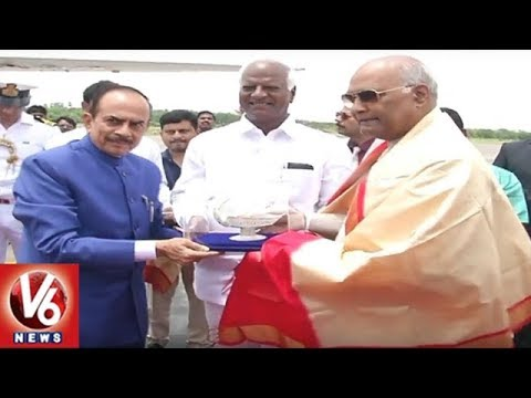 President Ramnath Kovind Leaves For Chennai After His Hyderabad Tour | V6 News