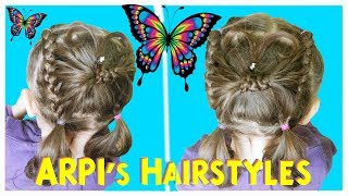 ???? cute BUTTERFLY HAIRSTYLE for little girls for short hair ???? ПРИЧЕСКА БАБОЧКА ???? ARPI's Hair