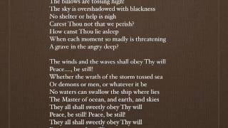 Master, the tempest is raging - with lyrics