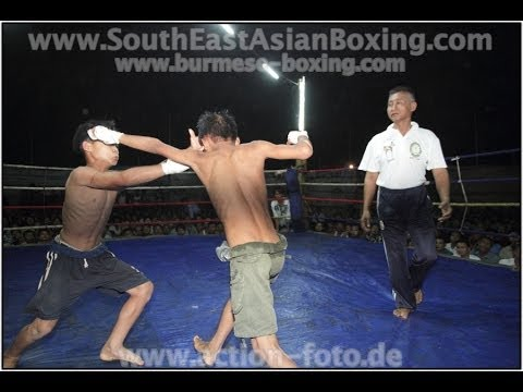 Lethwei Burmese Boxing [HD] - Fightnight in Thaton (1) - Kayin State Myanmar - Thingyan 2013 Image 1