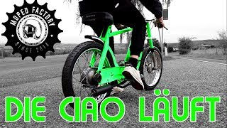Die Ciao läuft!! | Piaggio Ciao Mofa customized tuning Umbau Part 7