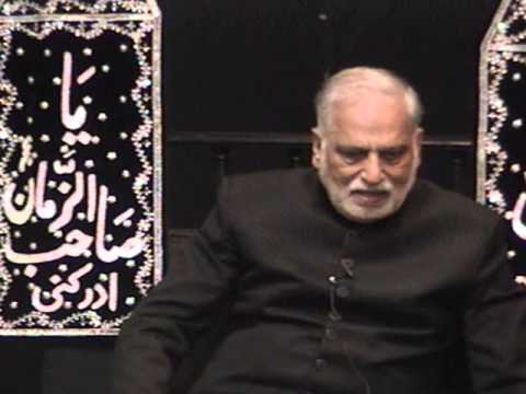 Majlis In Urdu At Idara-e-jaferia Md Usa 11-15-2012 Muharram 1434 Prof. Muntazir Abbas Naqvi video