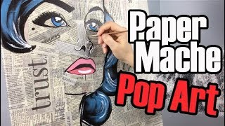 Paper Mache Pop Art Painting | Acrylic Painting Art Ideas on Canvas