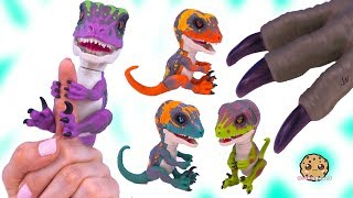 Baby Dinosaurs Raptor Fingerlings ! Interactive Talking Animal Toys