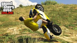 *SUPER* MOTORBIKE SLIDE STUNTS! 😱 - (GTA 5 Stunts & Fails)