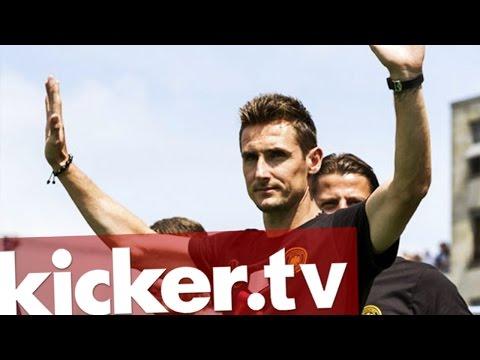 Rekordtordschütze tritt ab - Klose beendet Nationalmannschaftskarriere - kicker.tv