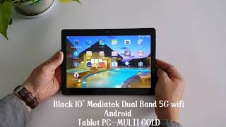 Black 10 inch Mediatek Dual Band 5G wifi android tablet pc
