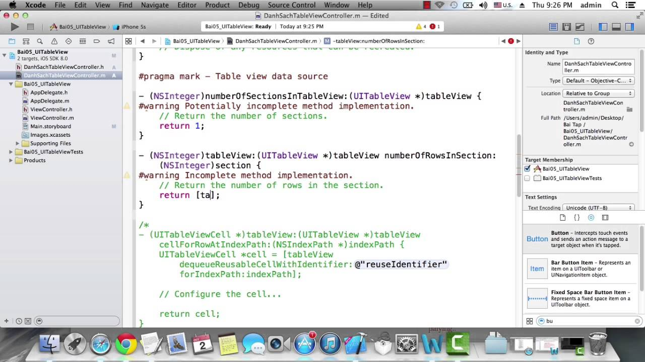 Uitableview ios 8 youtube for Xcode 6 tableview