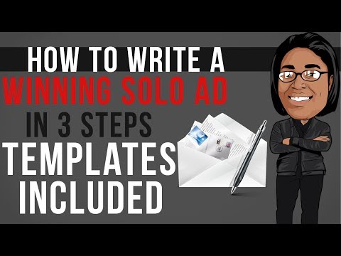How To Write A WINNING Solo Ad Copy | Templates Included!
