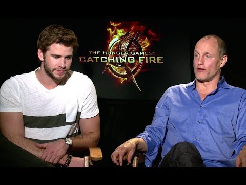 Liam Hemsworth & Woody Harrelson Interview - The Hunger Games: Catching Fire (HD) JoBlo.com
