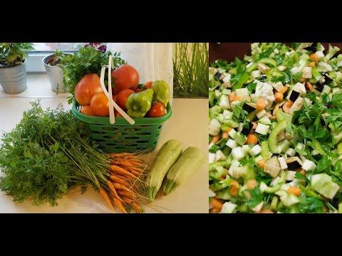 Заморозка овощей на зиму / овощная смесь