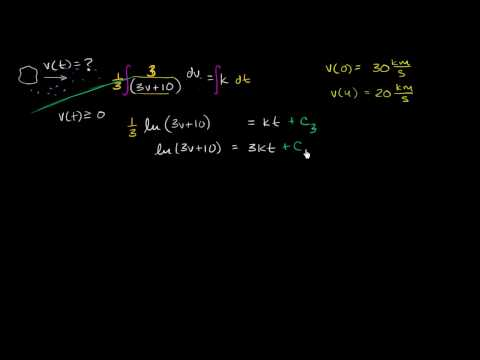 Example modeling asteroid velocity with differential equation