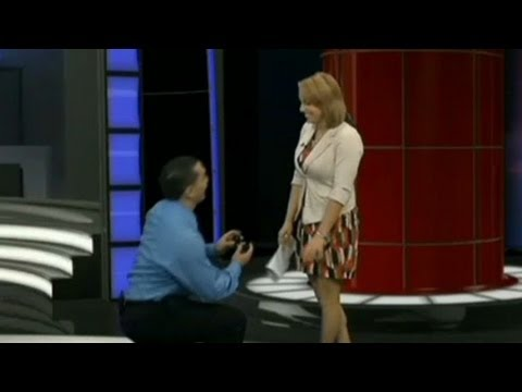 News anchor reads own proposal on air