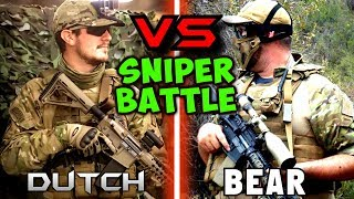 Head-To-Head Airsoft Marksman Battle (Epic Grenade Throw)