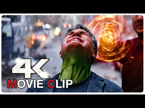 "AVENGERS INFINITY WAR ""Bruce Banner Tries To Become Hulk"" Movie Clip (4K ULTRA HD) NEW 2018"