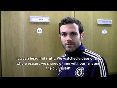 100 Chelsea games for Juan Mata