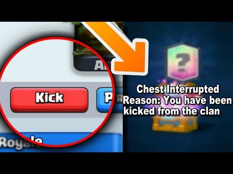 WHAT HAPPENS IF YOU KICK SOMEONE WHILE OPENING THE CLAN CHEST? CLASH ROYALE MYTHS!