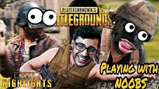 CARRYMINATI PLAYS WITH RANDOM SQUADS (NOOBS) || FUNNY VOICE CHAT || PUBG MOBILE HIGHLIGHTS