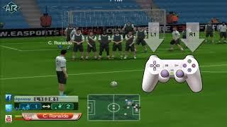 How to play free kick pes 6 طرق لعب الضربة الحرة فى