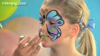 How To Face Paint A Butterfly