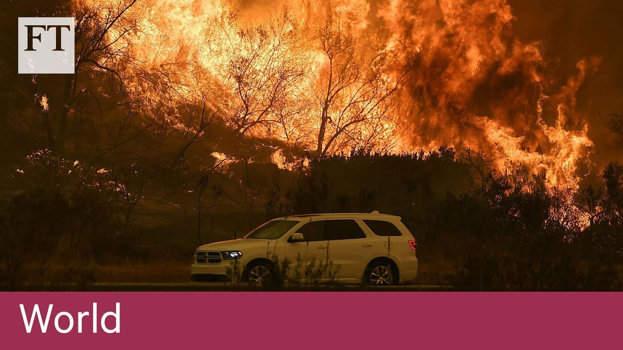 Hundreds of thousands flee as fires rage around LA