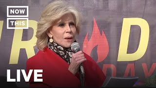Jane Fonda and Other Celebs Hold 'Fire Drill Friday' Climate Action in D.C. | NowThis