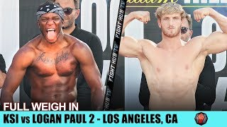 KSI VS. LOGAN PAUL 2 - FULL WEIGH IN & FACE OFF IN LOS ANGELES