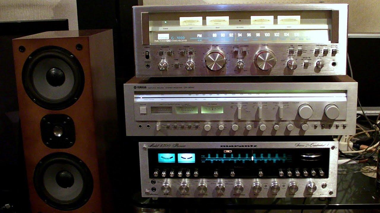Sansui G-7000 VS Marantz 4300 VS Yamaha CR-2040 sound test ...
