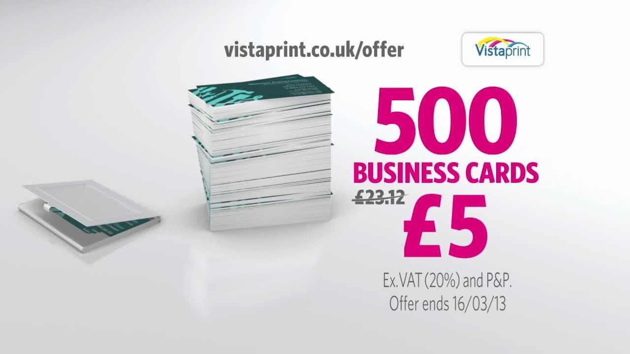 Vistaprint coupons 500 cards