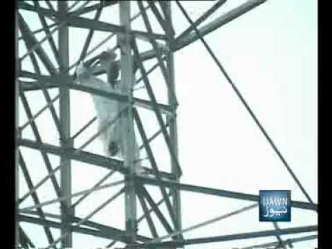 News Package-Person climbs at high tension pole-Lahore