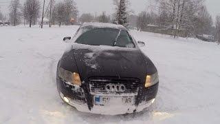 Audi A6 3,0 TDI Quattro in snow