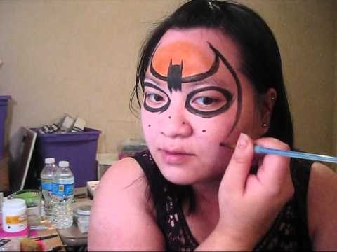 Super hero - Batman face painting tutorial