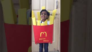 Fancy dress theme french fries