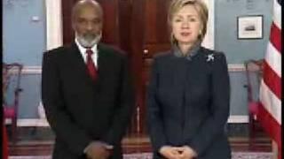Secretary Clinton Remarks With President Preval Of Haiti