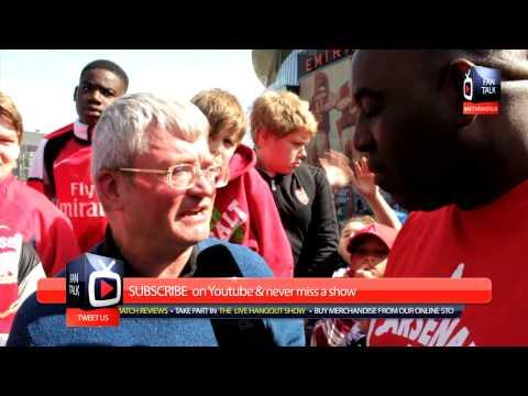 Arsenal 1 WBA 0 - Bacary Sagna and Fabianski We Want You Stay