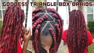 HOW TO: GODDESS TRIANGLE BOX BRAIDS