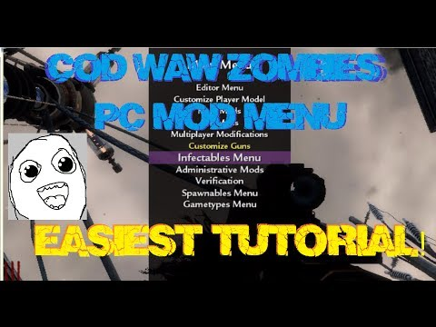 COD WAW Zombies MOD MENU EASIEST TUTORIAL + DOWNLOAD (PC)