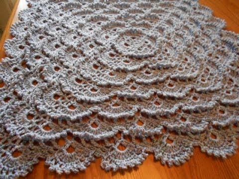 Manta Cobija tejida del centro a la orilla Crochet parte 1 de 2 ...