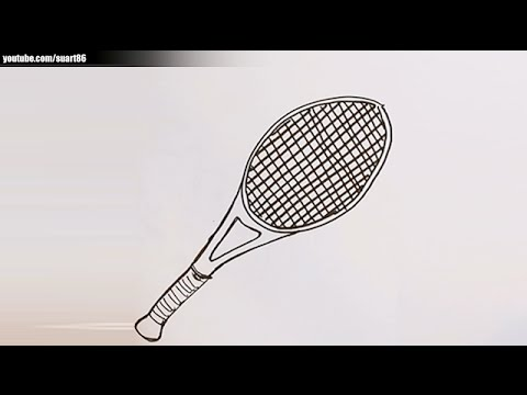 Lawn Tennis Drawing How to Draw a Tennis Racket