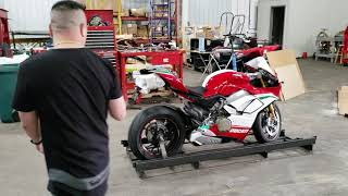 2019 Ducati Panigale V4 Speciale Unboxing part 1 - Motoprimo Motorsports